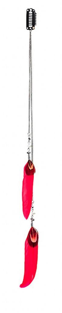 La barrette à plumes Asos (15,90€) pour styliser votre tresse