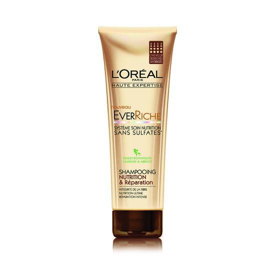 1. Le shampooing haute réparation sans sulfates