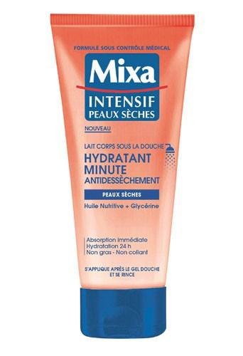 Pour un body tout doux : Lait corps sous la douche, Hydratant minute Antidessèchement, Mixa 4,85 €