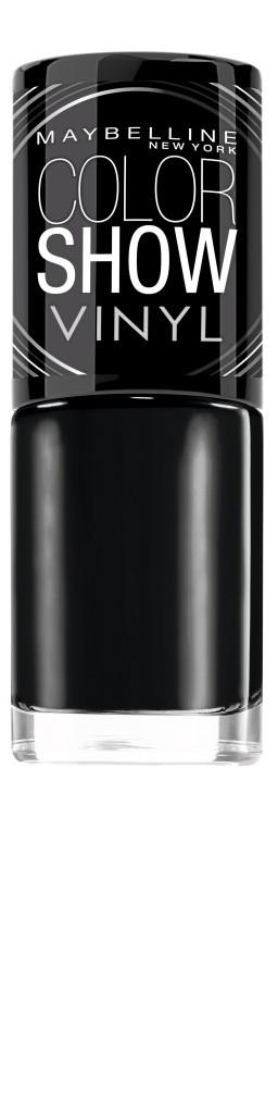 Vernis à ongles noir, Color Show Vinyl, Gemey-Maybelline 3,90€