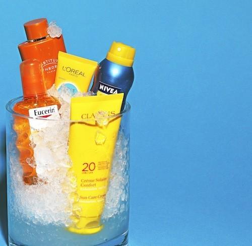 1 - Sun Spray transparent, SPF 50, Eucerin. 15 €. 2 - Soin bronzant lait corps, Adaptasun Mer et Tropiques, Esthederm. 20,70 €. 3 - Soin Visage...