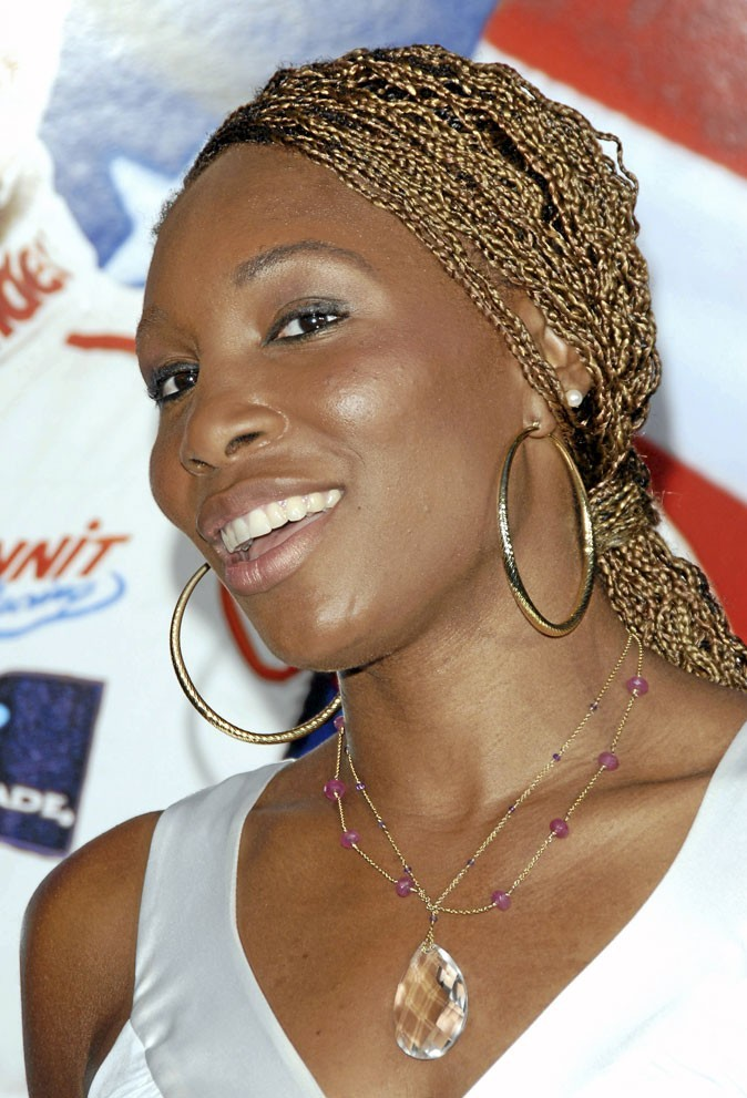 Cheveux afro : les tresses blondes de Venus Williams