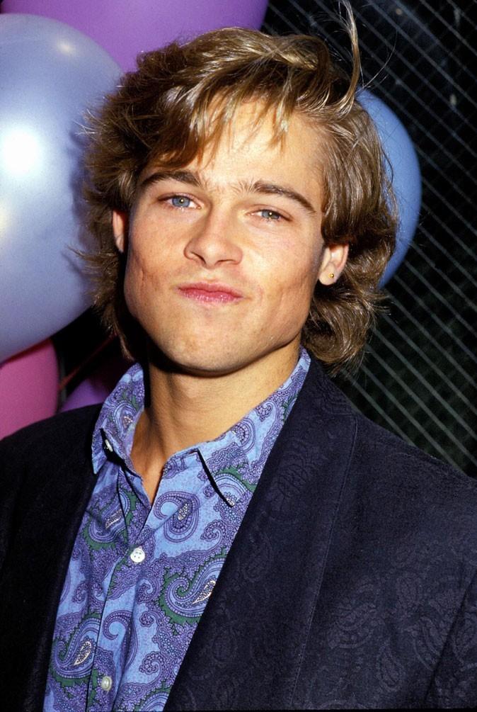 Coiffure de Brad Pitt : des cheveux mi-longs en 1987