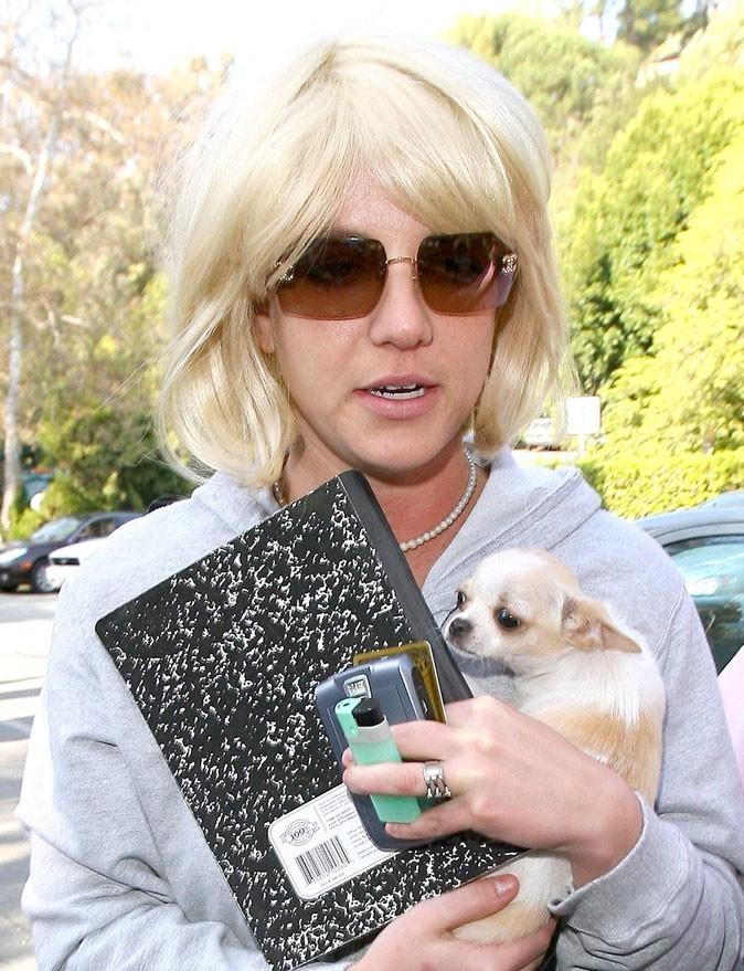 Coiffure de star : la perruque blonde de Britney Spears en 2007