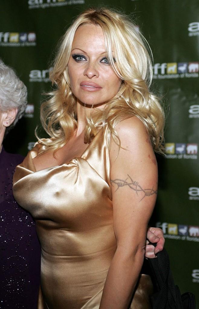 Coiffure de star : les cheveux blond bimbo de Pamela Anderson
