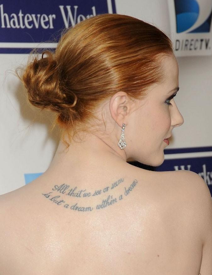 Evan Rachel Wood : un chignon plaqué sur cheveux roux en avril 2009