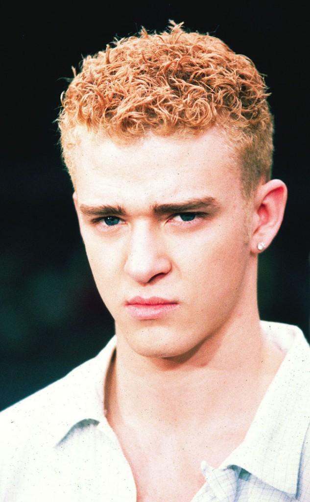Coiffure de Justin Timberlake à l'époque des NSYNC : passage au blond platine !