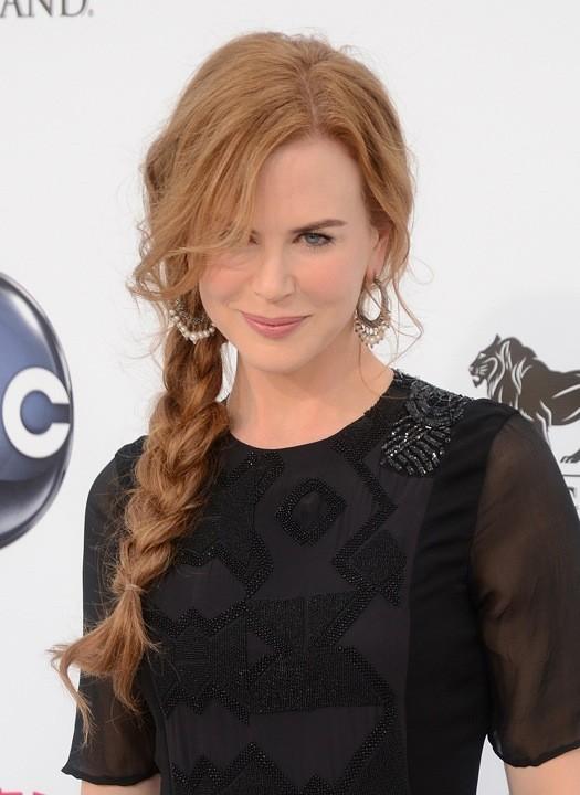 Nicole Kidman et sa tresse sur le côté