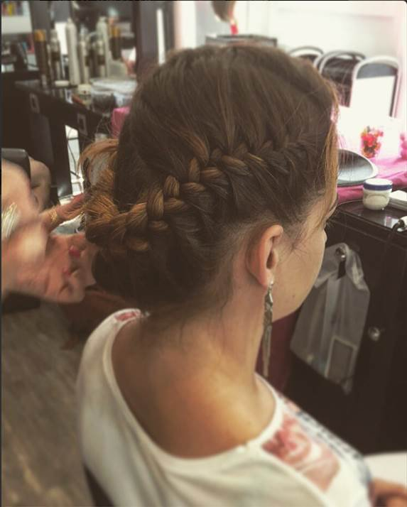 La coiffure de Chloé pendant la Nuit de la coiffure