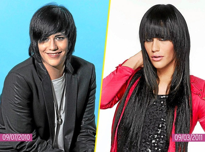 La coiffure out 2011 de Thomas de Secret story : too much les extensions