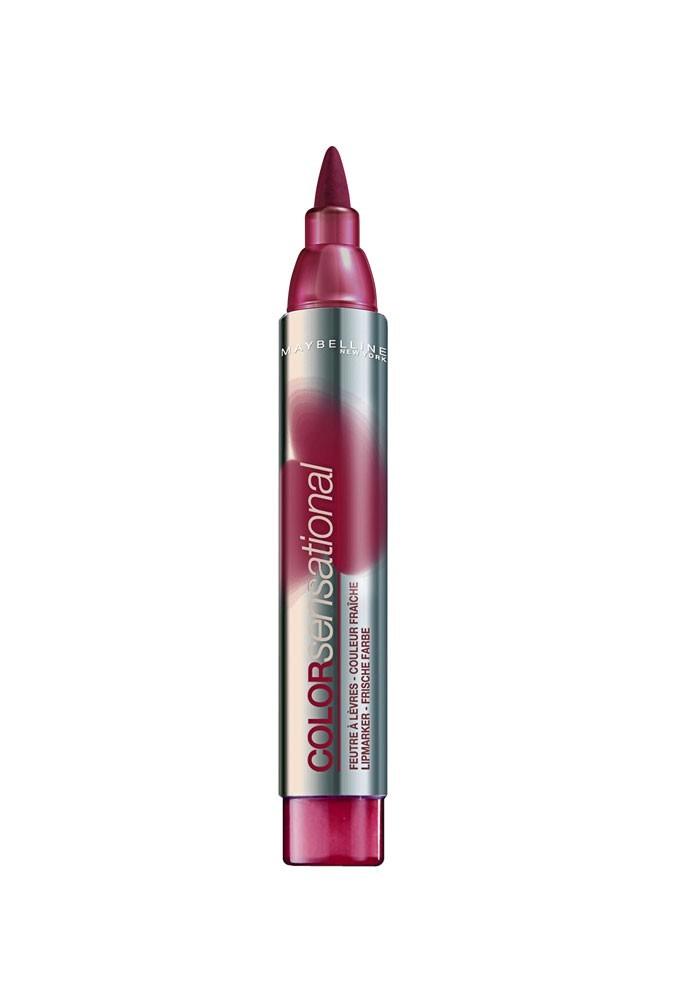 Le secret de beauté d'Elisabeth Moss : le feutre à lèvres Color Sensational 380 de Gemey Maybelline