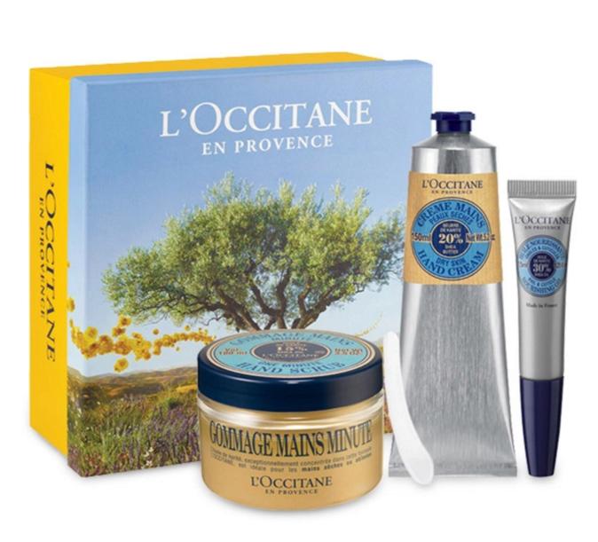 Coffret spécial peaux sèches au beurre de karité - L'Occitane en Provence - 74,50€.