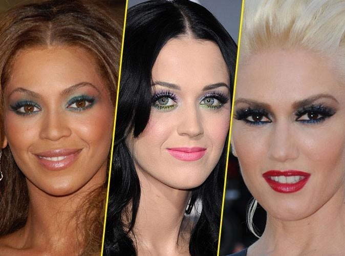 Maquillage : quand les stars adoptent un make-up coloré sur les yeux... In ou Out ?