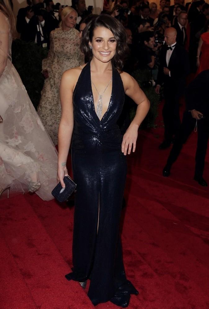 Le brushing gonflé et bouclé de Lea Michele