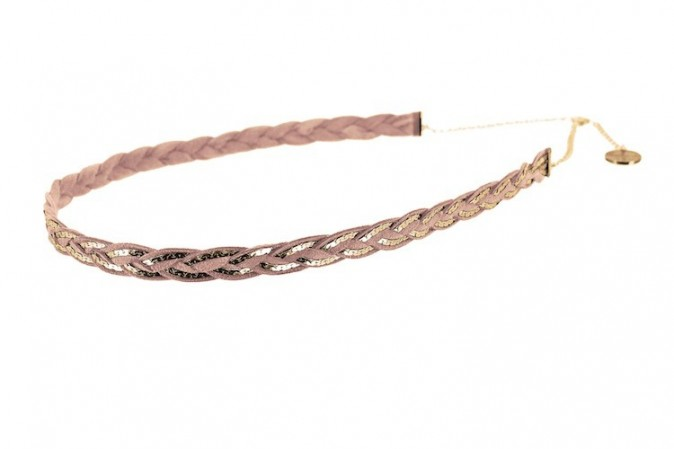Headband rose et or, Mademoiselle S. 70 €