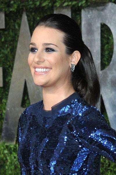 Oscars 2011 : la coiffure queue de cheval de Lea Michele