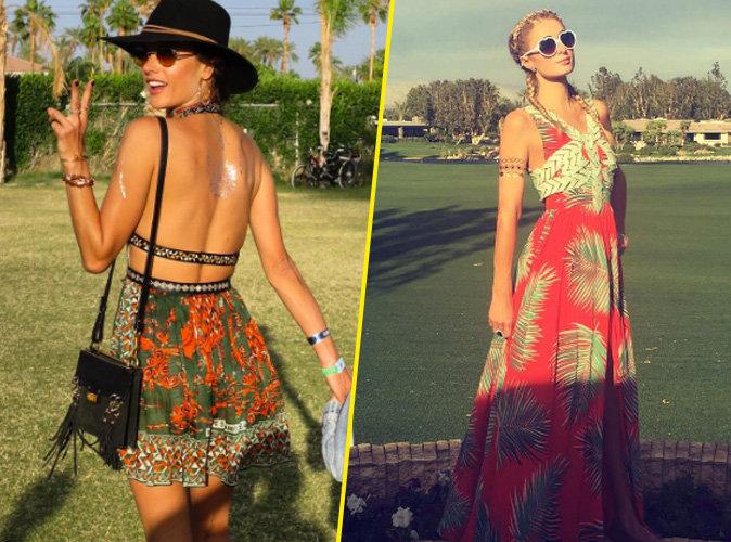 Alessandra Ambrosio et Paris Hilton au festival de Coachella
