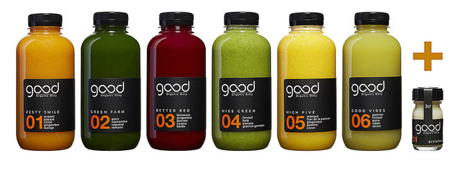 Cure Detox (6 jus et 1 booster), Good Organic Only. 60 €.