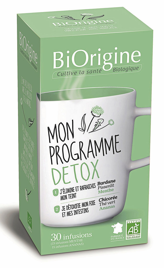Infusions Detox, BiOrigine. 5 €.