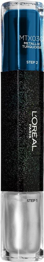 Vernis à ongles Gel Duo Infaillible Metallix Turquoise, L'Oréal Paris 12,90 €
