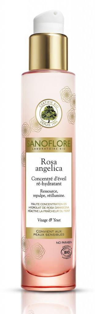Un corps tout beau tout bio : Concentré d'éveil ré-hydratant Rosa Angelica, Sanoflore 29 €