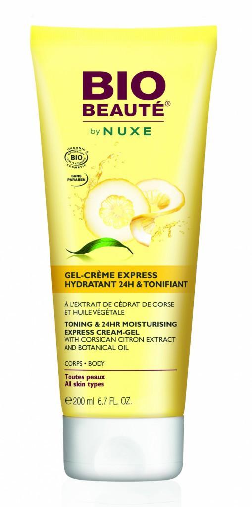 Un corps tout beau tout bio : Gel-Crème Express Hydratant 24 h & tonifiant, Bio Beauté by Nuxe 15.90€