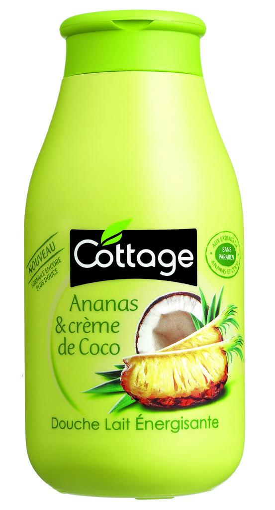 Gel douche ananas et crème de coco - Cottage : 2,30€