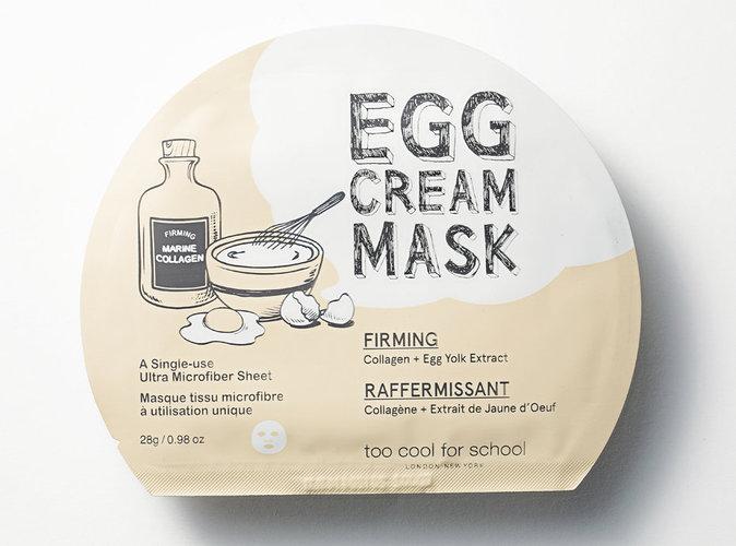 Masque raffermissant Egg Cream Mask, Too Cool For School. 4,50 €.