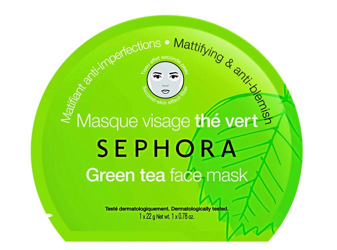 Masque visage Thé Vert, Sephora. 3,95 €.
