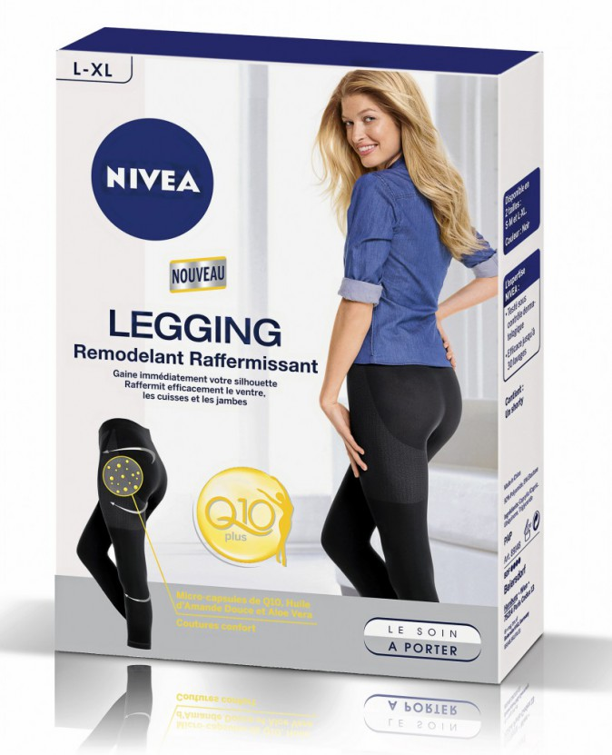 Je fonds sous mes vêtements :  Legging, Nivea. 29,90 €.