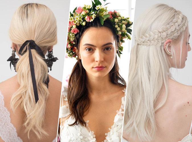 Photos : Mariage : wavy, couronne de fleurs, tresses... Découvrez les tendances coiffures