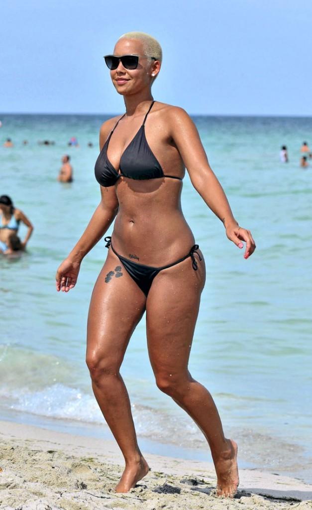Photos : Amber Rose en maillot de bain : Kanye West a rompu à temps !