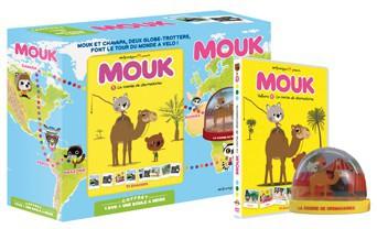 Coffret DVD + boule à neige, Mouk, la course de dromadaires, Millimages, 18,60 €
