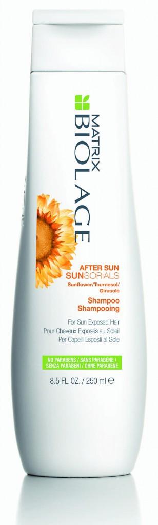 Après l'exposition : Shampooin après-soleil, Sunsorials, Matrix Biolage 14€