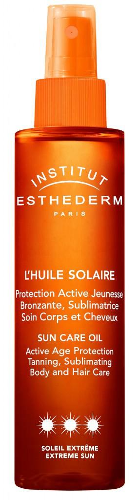 Avant l'exposition : Huile solaire protectrice, Esthederm 49€