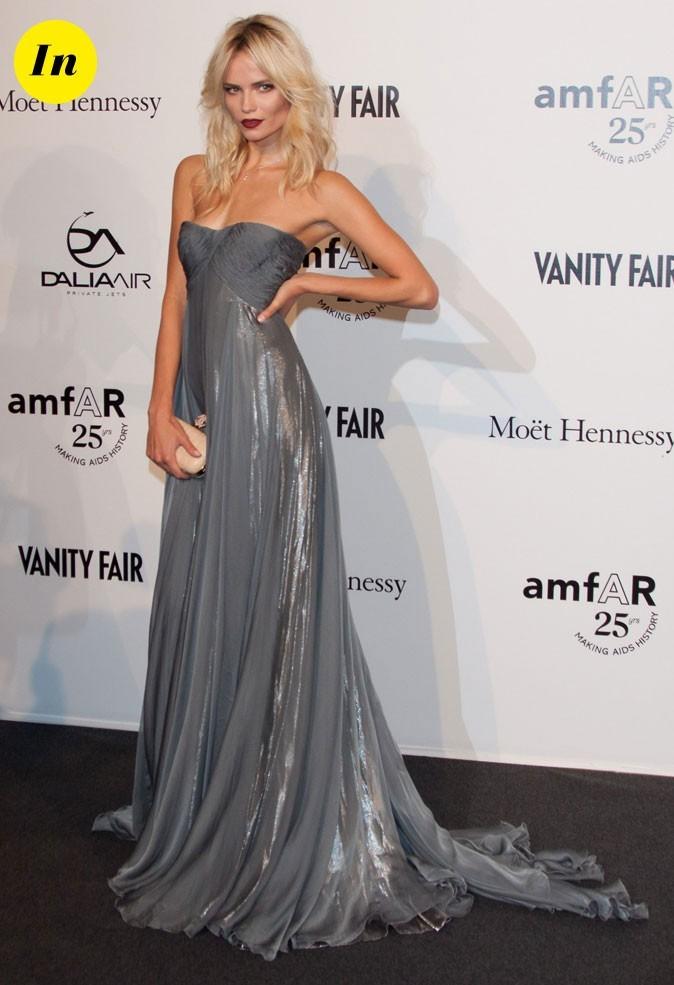 Fashion Week de Milan : Natasha Poly au gala de l'amFAR !
