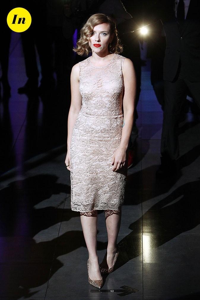 Fashion Week de Milan : Scarlett Johansson au défilé Dolce & Gabbana !