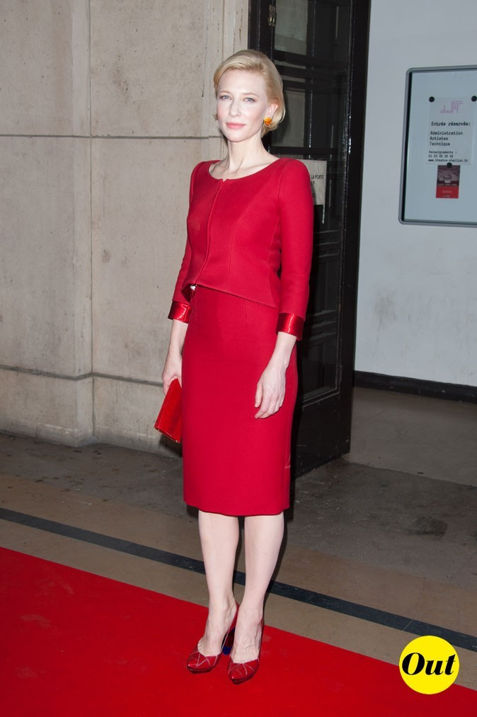 Cate Blanchett au défilé Armani