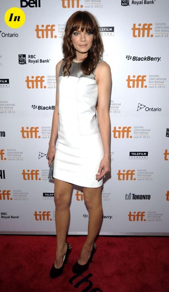 Festival du film de Toronto 2011 : la mini-robe blanche et argentée de Michelle Monaghan !