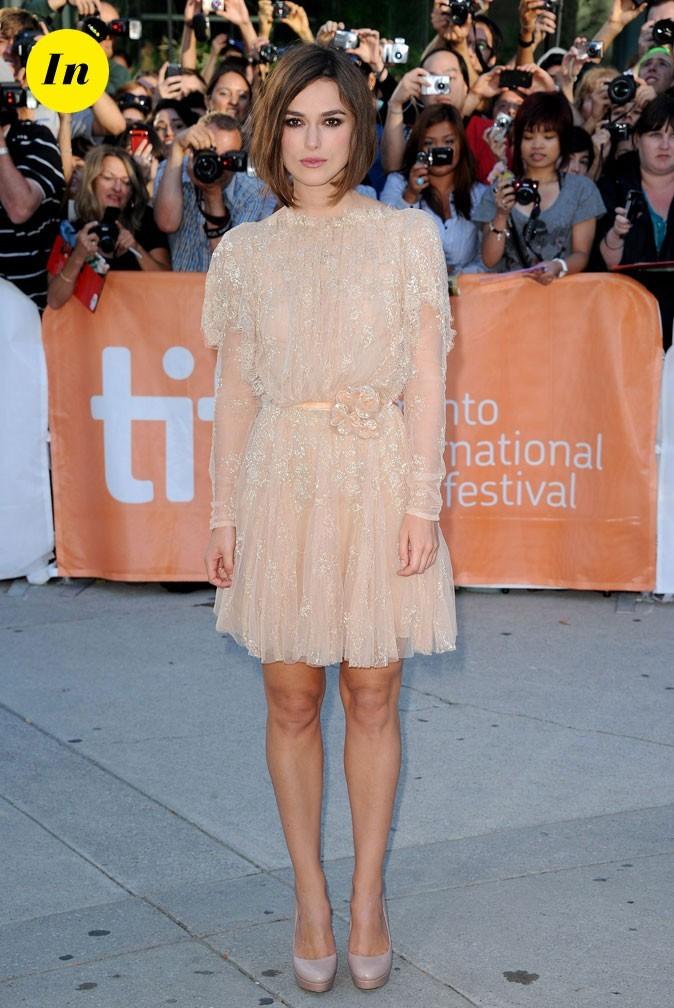 Festival du film de Toronto 2011 : la mini-robe nude en tulle de Keira Knightley !
