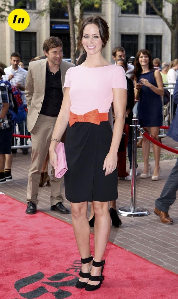 Festival du film de Toronto 2011 : la robe bicolore d'Emily Blunt !