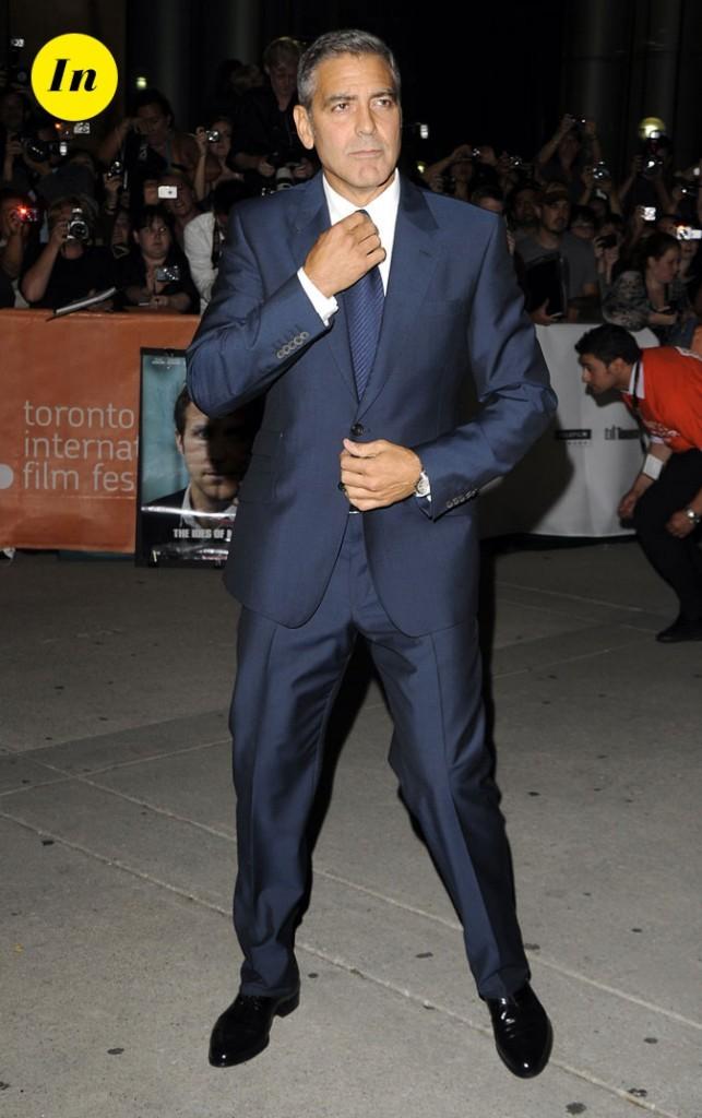 Festival du film de Toronto 2011 : le costume bleu marine chic de George Clooney !