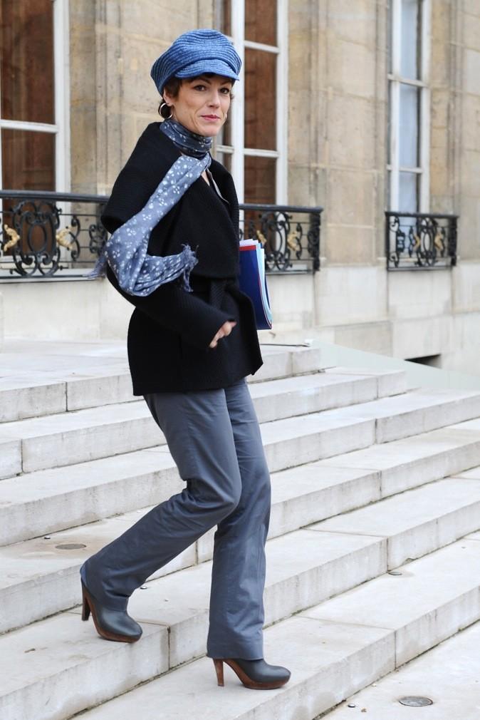 Chantal Jouanno mixe pantalon et casquette