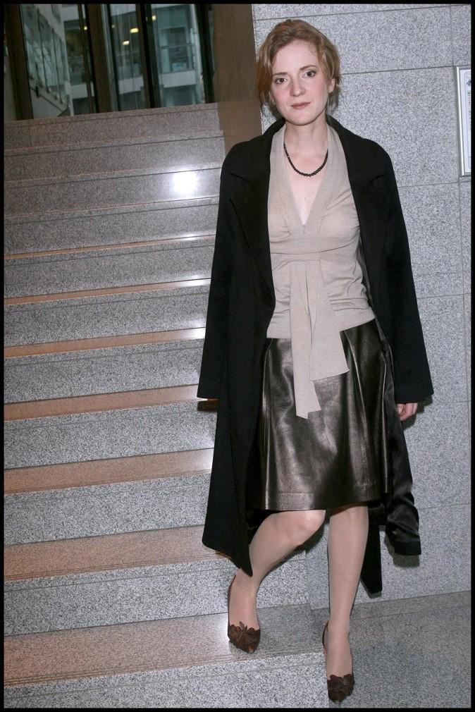 Nathalie Kosciusko-Morizet en jupe en cuir