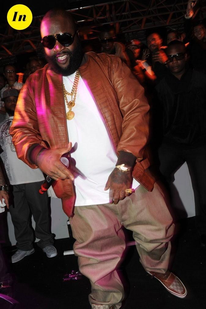 Rick Ross : Bling bling en Gucci et veste crocro!