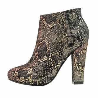 Les boots imitation python