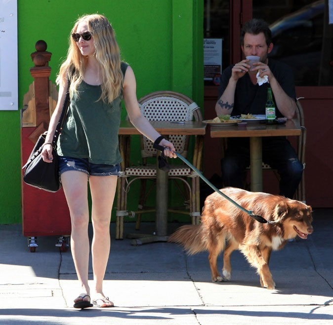 Look de star : le short en jean sexy d'Amanda Seyfried