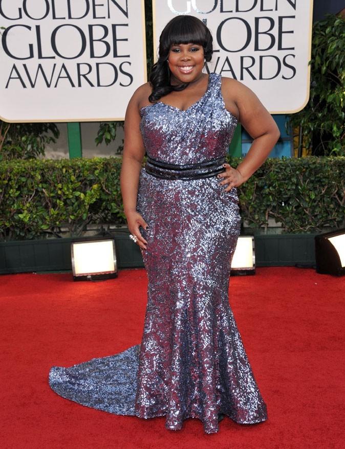 Les stars de Glee en mode glamour : la robe longue brillante d'Amber Riley