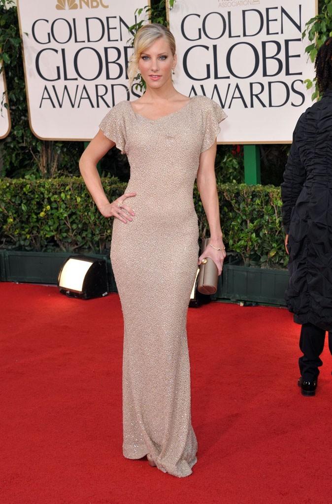 Les stars de Glee en mode glamour : la robe longue nude de Heather Morris