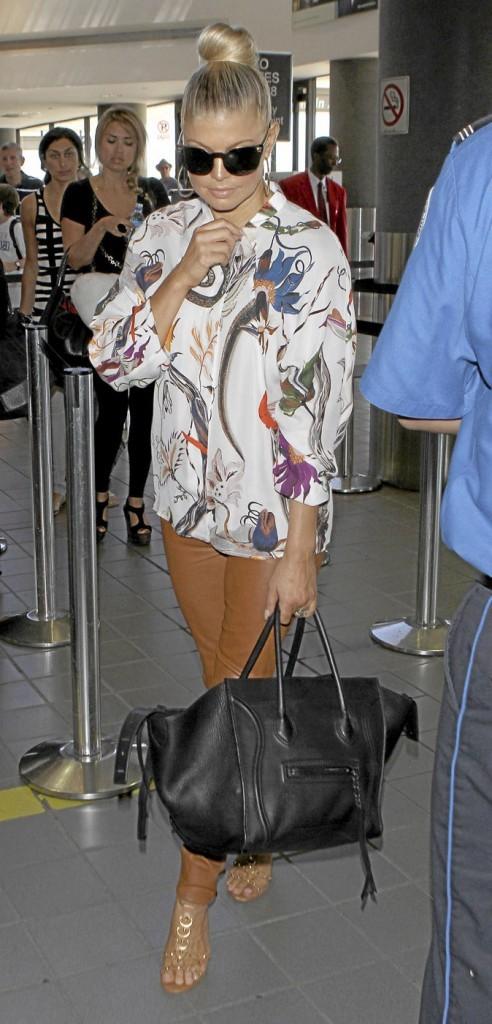 Fergie avec son sac Céline